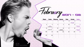Derek Hough Calendar 2017 - February