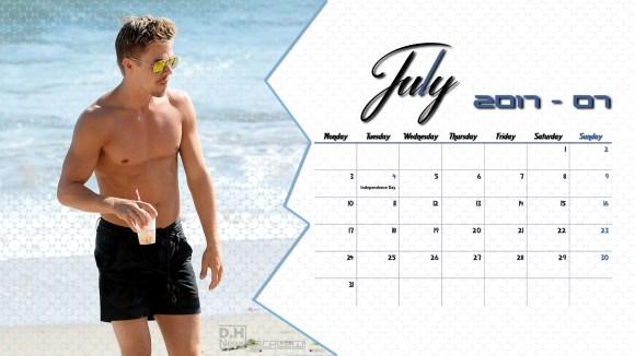 Derek Hough Calendar 2017 - July