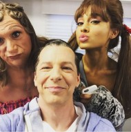"""You run into the strangest people in the makeup trailer."" - December 4, 2016 Courtesy theharveyfierstein IG"