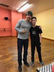 """Connor is working today and this week in a project with Derek Hough from Dancing with the Stars. The project is for a major recording artist. Can't say much more than that. Derek calls Connor his ""'mini me"" Lol."" - January 16, 2017 Courtesy Mike Finnerty FB"