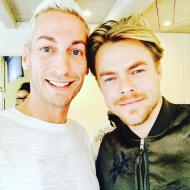 """#thisguy is #amazing !!!! Thank you @derekhough for a wonderful experience for @officialfynnstagram shooting @michaelbuble #music #video truly a wonderful day! You were a consummate professional as would be expected! Hope you like your @kenngrayhome candle! :)"" - January 19, 2017 Courtesy kenngrayhome IG"