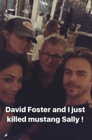 Derek on a night out with friends - February 10, 2017 Courtesy derekhough IG