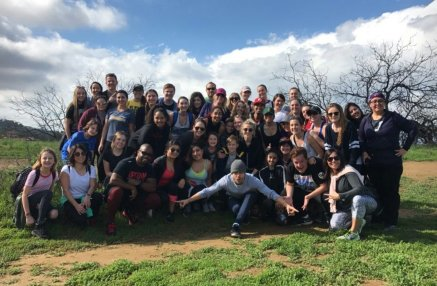 Group photo of MOVE Interactive at Fryman Canyon on February 11, 2017 Courtesy derekhough IG