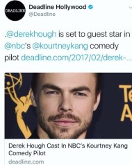 """Excited to be a part of this hilarious new project"" - February 27, 2017 Courtesy derekhough IG"