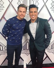 """""""Good times w/ @derekhough last nite at the @WorldofDance Awards. Our industry has come a long way. Congrats to all the winners... inspiring"""" - February 7, 2017 Courtesy nappytabs twitter"""