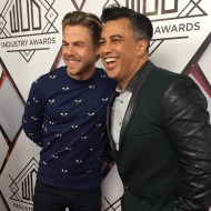 """Any day we can hang with @DerekHough on the red carpet is a great day! #WorldofDance 💃🏽💃🏼"" - February 7, 2017 Courtesy popheartstv IG"