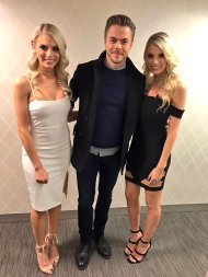 """We caught @DerekHough in a twin sandwich. 👯 #TheTwins"" - March 21, 2017 Courtesy hea twitter"