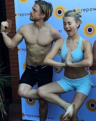"""You would never know by looking at this pic these two were not feeling good. But they came and conquered Hot yoga. Thank you @juleshough & @derekhough for creating #moveinteractive so inspired by your fun loving spirit! 🙏🏼❤️#powerduo"" - March 11, 2017 Courtesy jeannadiosy IG"