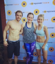 """Starting Saturday off right with an amazing C2 @corepoweryoga for #MOVEinteractive with @juleshough and @derekhough #yogi #hangingwithmyomies #namaste"" - March 11, 2017 Courtesy kristamarie22 IG"