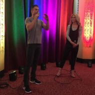 """""""Q and A with @derekhough and @juleshough #pinkshirtgirl #moveliveontour #movebeyond #"""" - Move Beyond - Rochester, New York - April 26, 2017 Courtesy cldancer IG"""