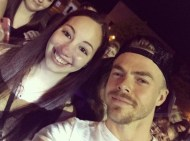 """""""What a babe 😍 Still can't believe this happened tonight! @derekhough 💙 #MoveBeyond #dwts #MoveLiveTour #dancingwiththestars #derekhough"""" - Move Beyond - Rochester, New York - April 26, 2017 Courtesy larissanicole95 IG"""