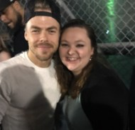 """YOU GUYS I MET @derekhough AND THIS IS THE BEST DAY OF MY LIFE OMG OMG OMG!!! #movebeyond #moveliveontour"" - Move Beyond - Detroit, Michigan - April 23, 2017 Courtesy lyricallauren09 IG"