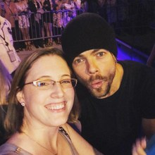 """""""Move Beyond was such a touching and brilliantly thought out and put together show. The dancers were all incredible! Fierce 🔥 Strong 💪🏻 and Flawless 💃🏼 Thank you @derekhough and @juleshough for sharing your brilliant minds and moves with the world! A special thanks to @derekhough for taking time out of his busy night to share some love with his fans! #movebeyondliveontour #derekhough #juliannehough #mosttalentedpeopleever #nobodycanbeatthisteam #atlantafoxtheater"""" courtesy whitcolcord ig"""