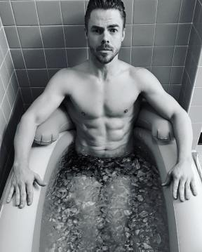 """After every show I sit in my ice bath for about 10 minutes. Depending on the temperature. Ice baths are probably one of if not the most important post workout rituals. Helps recovery and reduces inflammation which prevents injury. TIP: Try inhaling through your nose next ice bath. Study:Rhythm of breathing affects memory and fear- Journal of Neuroscience ""When you are in a dangerous environment with fearful stimuli our data indicate that you can respond more quickly if you are inhaling through your nose""- Christina Zelano @drtrishasmith"""