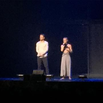 """#movebeyondliveontour #derekhough #juliannehough great show! Just wish I'd been able to see more of the first four numbers but people were late and blocked me from seeing parts of the show #frustrated #heartbroken"" Courtesy pearlowl ig"