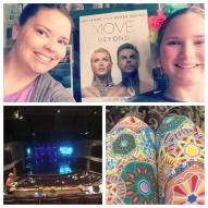 """#MoveBeyond with #GraceyGugu #ShesMyBest #SiouxFalls so excited to see @juleshough and @derekhough (hope his sunburn is better!) #LuLaRoeLeggings with the crazy carpet at the #WashingtonPavilion"" Courtesy lularoekristicurl ig"