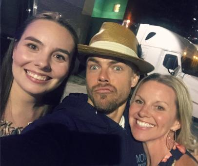 """Soooo.. this happened! ♥️ Met @derekhough and @juleshough after the @moveliveontour tonight! What truly amazing people with the kindest #hearts! #Appreciate them so much for taking the time to #meetandgreet AMAZING show! Go. See. It. #ASAP #Thankyou to my beautiful #daughter for the tickets! I love you! ♥️ #dreamscometrue #beautifulpeople #motionequalsemotion #autographs #hugs #happygirl #daymade #derekhough #juliannehough #moveliveontour #danceislove #dance #daymaker #bestdayever #movebeyond @ebomber94"" Courtesy sarahkeenpost ig"