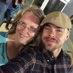 """@derekhough It's always a pleasure getting to see you! Thank you so much for coming out to take pictures last night! I love watching you and @juleshough dance and @moveliveontour was incredible!! ❤️💜💃 #movebeyond"" Courtesy laurenhouseworth ig"