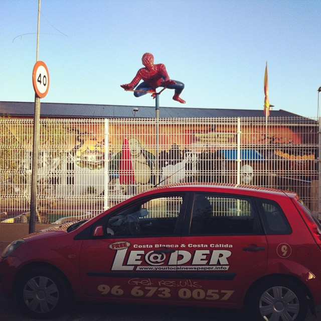 Spider-Man in Rojales - from Instagram
