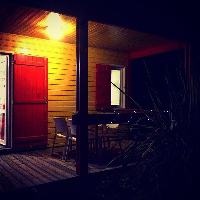 Our first night of 14 here in naked paradise - from Instagram