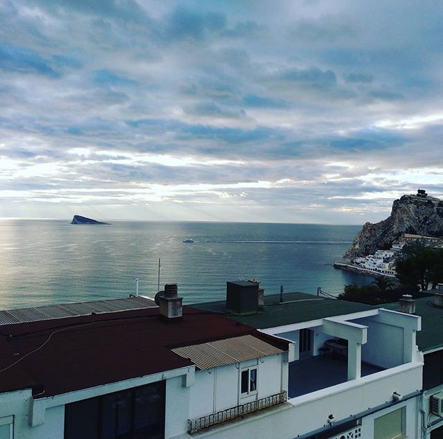 A cloudy start to the day here in Benidorm - from Instagram