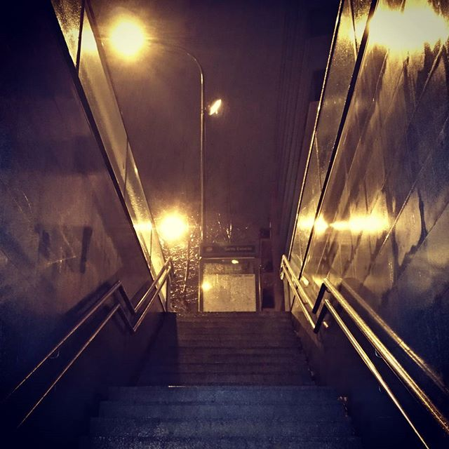 #autohash #Barcelona #Spain #Catalunya #step #light #tunnel #travel #traveling #visiting #instatravel #instago #railway #architecture #locomotive #train #road #guidance #track #eerie #outdoors #perspective #passage #cold #wet #rain - from Instagram