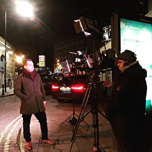 #bbc #bbcnews #autohash #Stockport #UnitedKingdom #England #people #street #light #industry #city #technology #tech #techie #geek #techy #camera #cameraman #tv #reporter - from Instagram