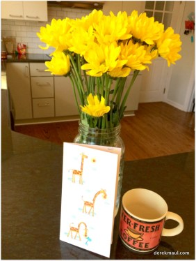 It's the simple things - coffee, flowers, a card...