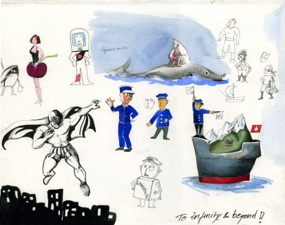 Preliminary sketches for shortfilm Captain Bligh by Derek Roczen
