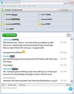 Scrumming in the Skype Room