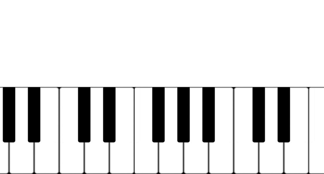 Meine Playlist zu: Der Elbische Patient. Hier zu sehen: eine Klaviertastatur