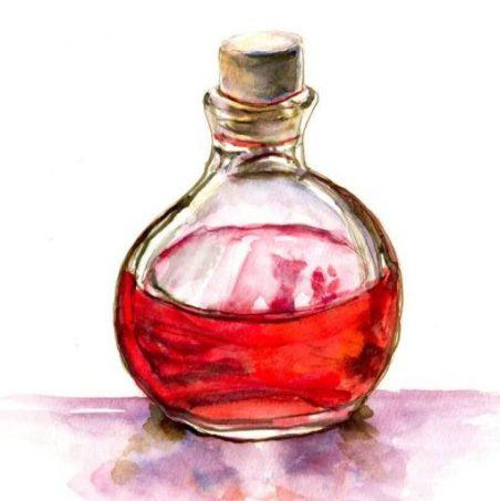Ein roter Zaubertrank, passend zum Beruf der Protagonistin (Heilerin).