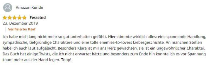 """Die dritte Bewertung für """"Der Elbische Patient"""": 5 Sterne"""