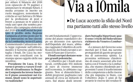 Social media, la Campania è la prima regione in Italia per utenti e interazioni