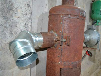 Gázhenger fúvókákkal a kipufogógázhoz
