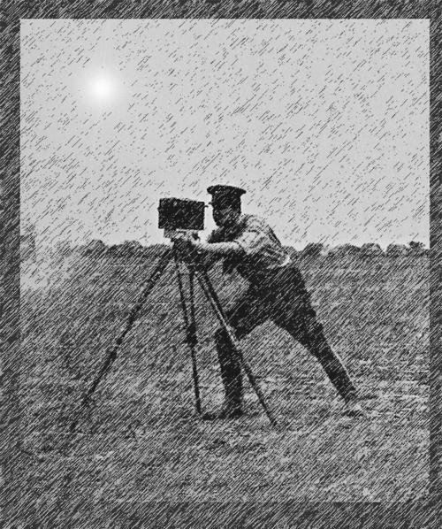 SSVK-Gründer Hartmann mit Kamera in der Tartarensteppe