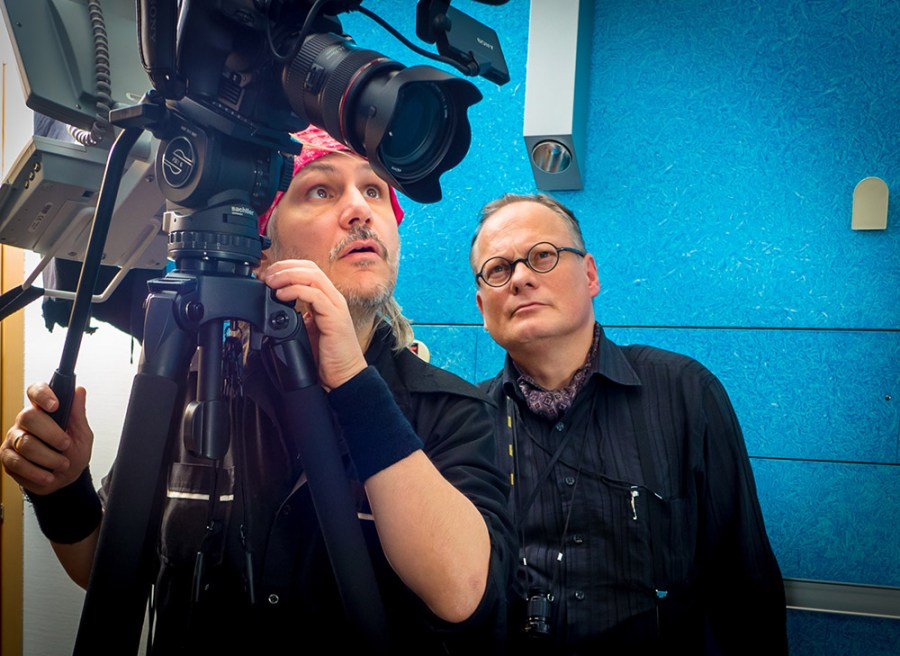 Nicolo Settegrana und Thomas Koch bei der Kamerarbeit derhalbhartemann.com