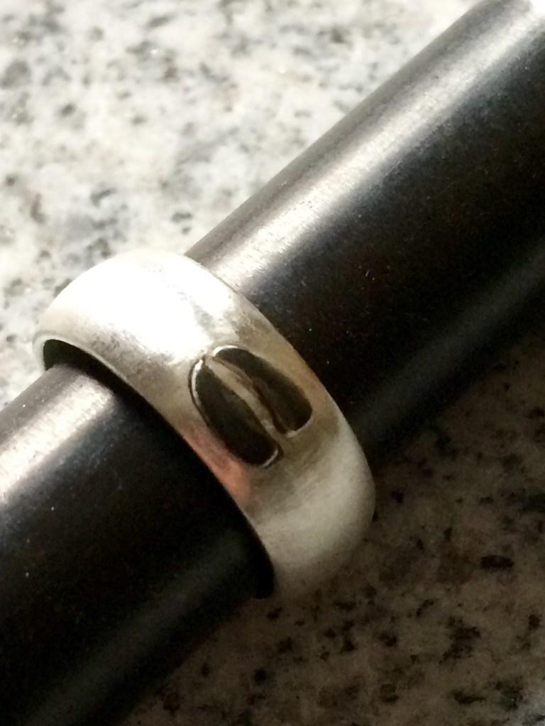 Silberring mit einem Trittsiegel - Reh
