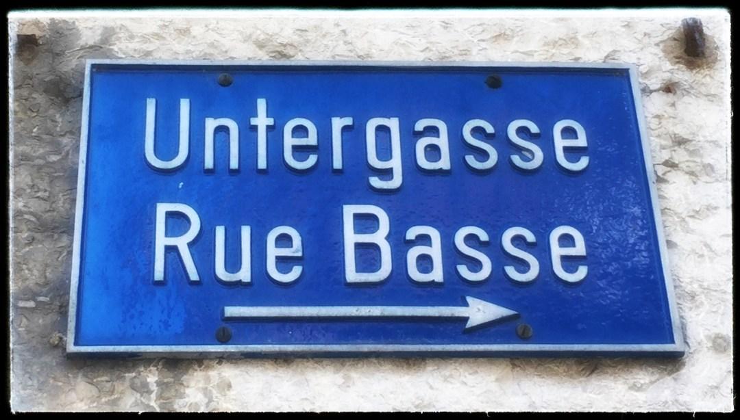 Biel Untergasse, cooles Quartier in Biel Bienne