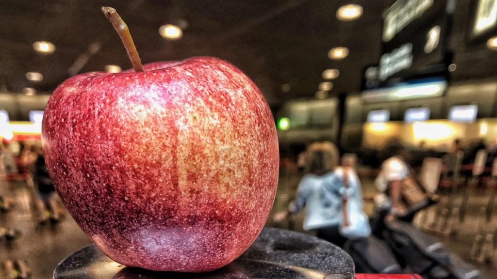 Reiseproviant haltbar: Der Apfel ist Superfood für die Reise, sagt Reiseblogger der Internaut.