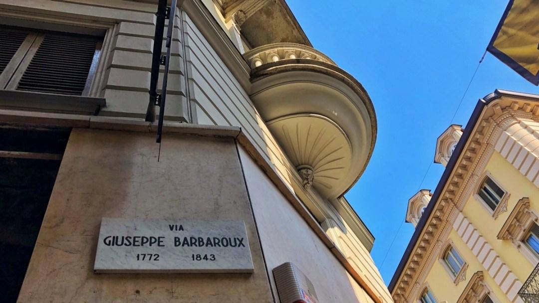 Via Giuseppe Barbaroux Torino