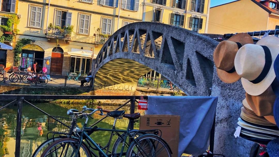 Kanal Viertel in Mailand Naviglli