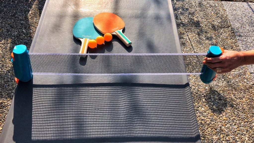 Tischtennis-Set für unterwegs im Test.
