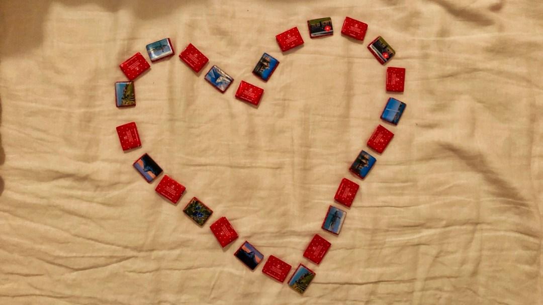 Schokolade als Geschenk auf Reisen.