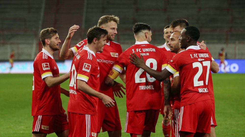 Union jubelt: Mit dem 5:0 gegen Bielefeld haben die Berliner den höchsten Sieg ihrer gut einjährigen Bundesliga-Historie eingefahren.