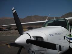 Cesna für den Linien-Flug in Nazca