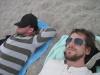 Torben und ich am Strand
