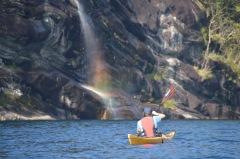 Kayak im Fjord