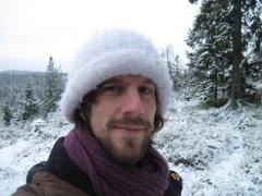 Ich im ersten norwegischen Schnee