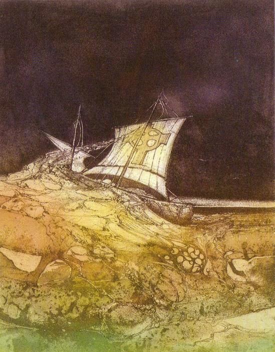 Carmelo de la Pinta_carmelo-de-la-pinta-voyage-de-brendan-1983-acquaforte
